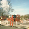 So we alighted at Port St Mary for liquid refreshments - and photographed No 11 Maitland departing for Douglas in May 1986.