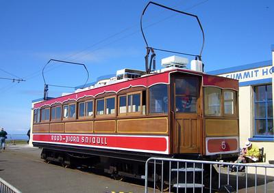 SMR no. 5 at Snaefell.