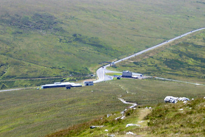 Looking down from Snaefell to Bungalow station.
