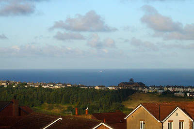 The view from Whitehaven of SeaCat Emeraude France making its way across the Irish Sea towards Whitehaven harbour.