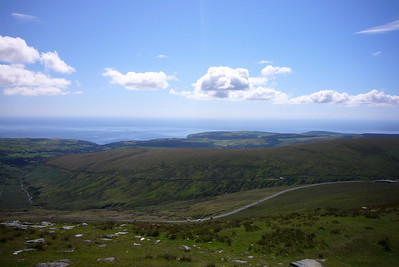 The view from Snaefell summit station.