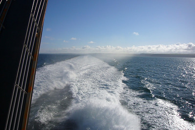 The wake from the SeaCat.