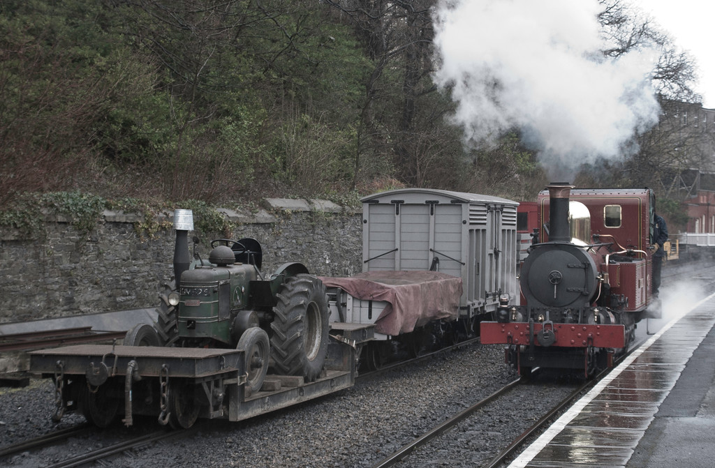 But worth letting G H Wood go in favour of the next departure - a mixed formation headed by the very lovely Fenella - seen here shunting the train before departure