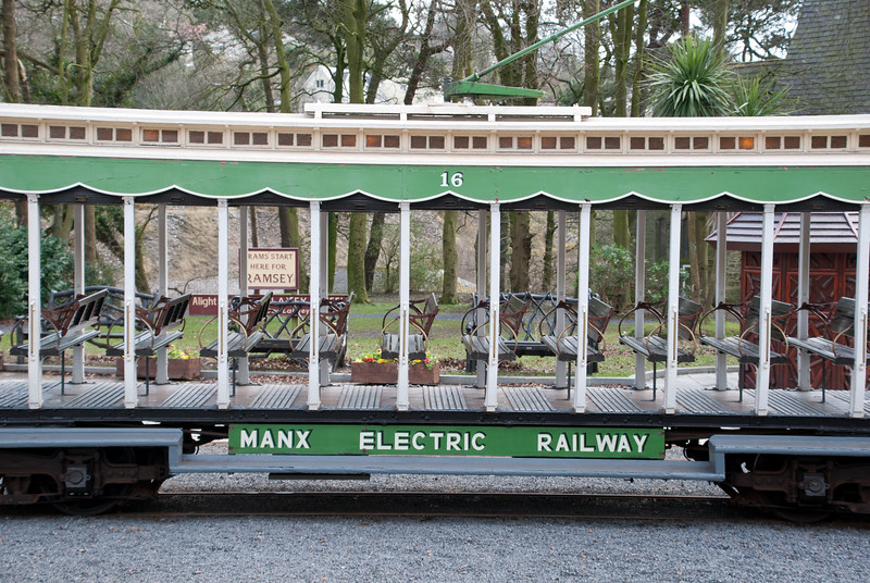 After a while you get used to travelling exclusively on Victorian transport. The Manx Electric Railway is quite something - a true cross country tram from the seafront and suburbs of Douglas through to the open countryside between Laxey and Ramsey.