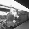 W28 Ashey, looking a little worse for wear around the smokebox, waits time on 21/09/65, at Ryde Pier Head with the 11 18 for Cowes.