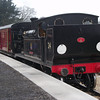 W24 at Wootton preparing to work the 11 31 for Smallbrook Junction in April 2012.