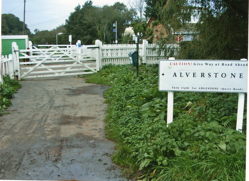 Alverstone (the station was the other side of the crossing) in October 2005 - 52 years after closure.