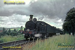 "O2 0-4-4T No. W35 ""Freshwater"" is working south between Sandown and Shanklin with a limited stop train from Ryde Pier Head to Ventnor on Saturday 24th July 1965. This was my last photo of normal working steam on the Isle of Wight... Slide No. 1493."