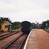 The train now departing - Wootton in August 1988.
