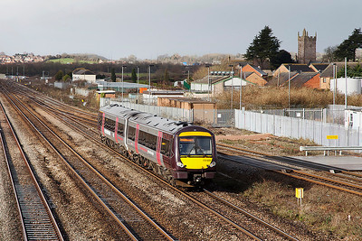 170520 passes severn Tunnel Junction forming 1M60 0945 Cardiff Central to Nottingham. Friday 21st February 2014.