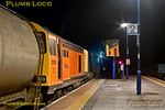 "Deliveries of LUL ""S"" Stock continue into 2013 with the first run from Old Dalby to Neasden on Wednesday 2nd January 2013. During the reversal procedure at 23:44 at Princes Risborough, HNRail liveried 20314 and 20096 await departure towards Aylesbury after the train arrived behind 20901 and 20905 a few minutes earlier. Digital Image No. GMPI3506."