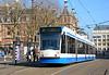 Amsterdam tram 2027 departs Leidseplein on service 1 to Osdorp De Aker 13/03/2015.