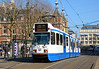 BN tram 910 on service 5 is seen at Leidseplein Amsterdam 13/03/2015. <br /> This one of twenty bidirectional trams used on this service to Amstelveen Binnenhof, due to no balloon loop at the end of the line.