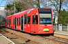 Croydon TramLink 2542 in its distictive Turkish Airlines livery is seen at Waddon Park 01/03/2015.