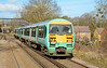 456021 is seen on the approach to Bagshot with service 2N35 heading for Guildford 27/02/2015.