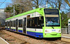 Croydon TramLink 2530 is seen at Wandle Park on service 3 to New Addington 01/03/2015.