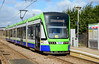 TramLink 2557 at the Waddon Marsh stop on service 3 to New Addington 01/03/2015.