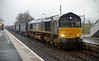 66427 runs through Dyce on 5th January with the diverted 4Z47 from Mossend to Inverness