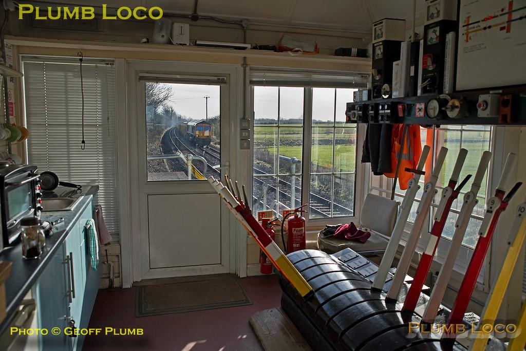66704, Interior Ashwell Signal Box, 6M60, 30th January 2018