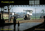 On the platform at Purwokerto station a small boy and his mother watch 4-6-0 C54 01 doing some shunting around the station area, in front of the 1930s style signalbox. The engine was built by Hartmann in 1922, works No. 4429. It was one of 19 locos in the class, 13 built by Hartmann and 6  by Beyer, Peacock, all in 1922. Various other engines can be seen at the loco depot alongside the station. Saturday 21st July 1973. Slide No. 11475.