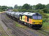 60076 with Preston Docks to Lindsey empty tanks at New Barnetby on Monday 3rd August 2015