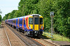 SWT refurbished Juniper units 458527+017 are seen at Sunningdale, on 5C26 test run from Reading to Staines up loop 03/07/2015.<br /> With the refurbishment now running two years late, the severe corrosion found in the units has certainly caused some angst to Alstom & Wabtec.