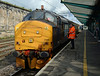37409 about to leave Carlisle with the second run to Barrow on Saturday 1st August 2015