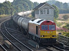 60015 at Barnetby on Monday 3rd August with a Lindsey to Kingsbury loaded tanks
