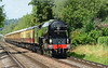 "LNER A1 60163 ""Tornado"" accelerates across Addlestone moor, with the Belmond Pullman luncheon circular, heading for Shalford & then a return to London Victoria 08/08/2015."
