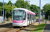 Midland Metro Tram 29 is seen at Black Lake whilst heading for Wolverhampton St George's 04/07/2015.