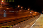 "37685 ""Loch Arkaig"" was off the end of the platform on the rear of 1Z32, the 22:46 Royal Scotsman from Haddenham & Thame Parkway to Fletton (arrive 04:13), whilst it was picking up the passengers after their dinner at Le Manoir aux Quat' Saisons. The train is now on the move again and the 37 comes into the light, giving a rather surreal motion blur effect... 22:43, Tuesday 12th July 2011. Digital Image No. GMPI9715."