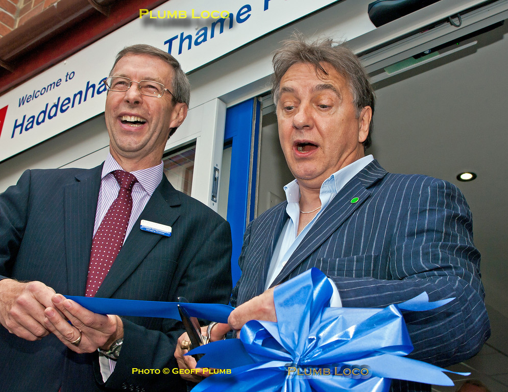 Raymond Blanc & Rob Brighouse, Haddenham Station Official Opening, 10th June 2014