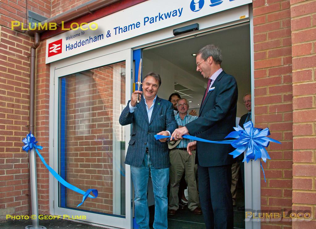 Raymond Blanc & Rob Brighouse, Haddenham Station Official Opening, 10th June 2014