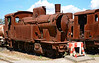 Former SFS7 steam locomotive, is seen dumped at Tempio Pausania 18/06/2015.<br /> My understanding is, that these two steam locomotives have stood here for over Thirty years.