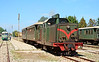 Narrow gauge diesel locomotive LDe 503 departs Tempio Pausania with a tourist special 18/06/2015.<br /> This one of five locomotives built in 1959 by Breda.