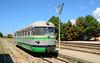 Fiat narrow gauge railbus ADm56 is seen at Tempio Pausania 18/06/2015.