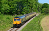 59003 is seen on the approach to Crowcombe, standing in for the Grid on  Sunday 07/06/2015.