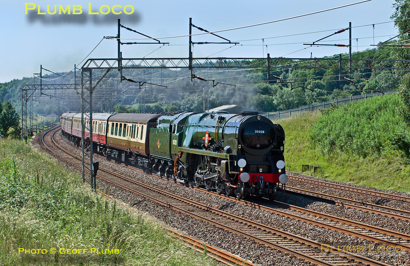 "35028 ""Clan Line"" Old Linslade, 1Z75, 30th June 2015"