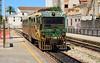 Narrow gauge Dmu ADe 97 arrives at Sassari with a service from  Porto Torres Maritt.