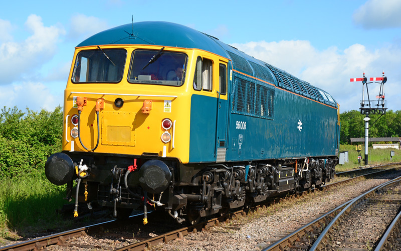 56006 is seen at Bishops Lydeard 06/06/2015 just before a stunning run to Minehead. <br /> Fuel starvation would curtail the Grids participation on the Sunday, a great shame to all involved.