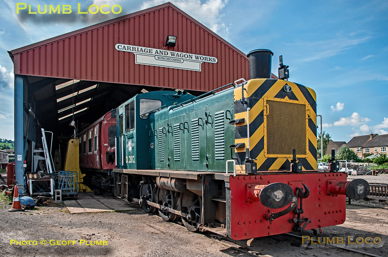 D2182, Winchcombe Carriage & Wagon Works, 3rd June 2018