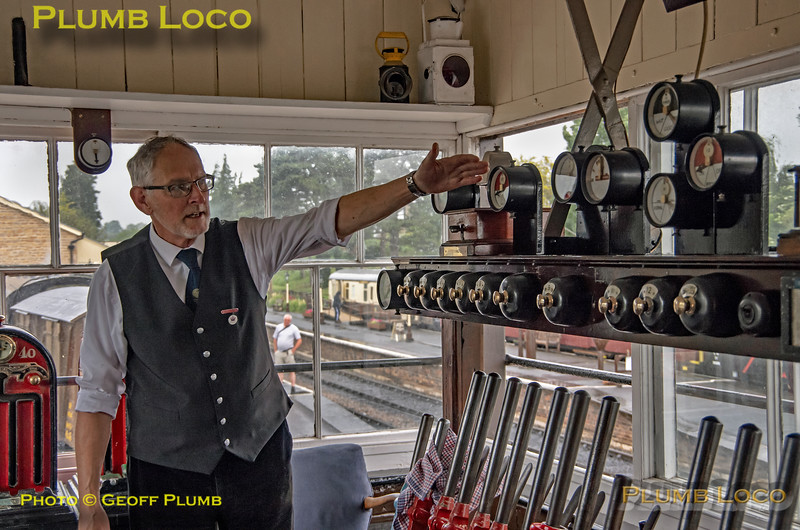 Winchcombe Signal Box, Signaller, 2nd June 2019
