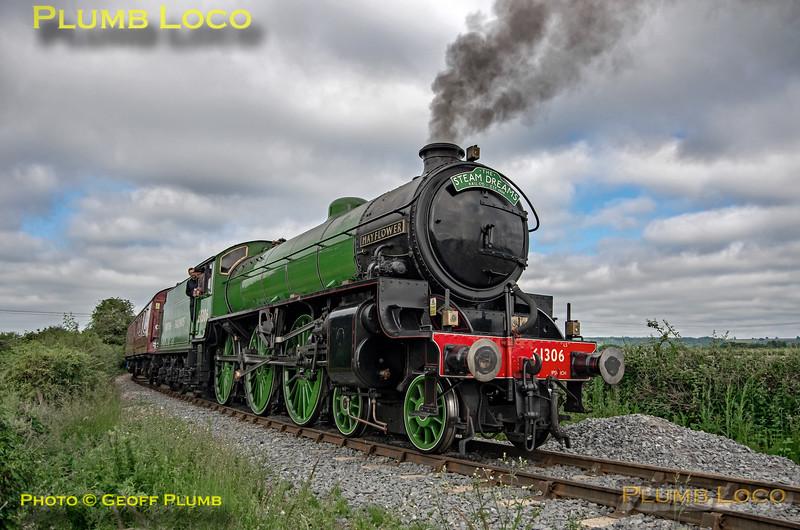 """61306 """"Mayflower"""", Horsenden Lane Level-Crossing, 5Z44, 26th June 2019"""