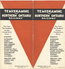 Temiskaming and Northern Ontario timetable June 27 1937 corrected to October 26 1937. cover