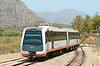 Dmu 2510 arrives at Teulada on a service from Denia 22/06/2014.