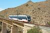 4102 is seen crossing the bridge at Barranco de Aguas near El Campello on the Costa Blanca, with service L1 heading to Benidorm 30/06/2014.