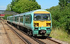 456011+013 arrive at Bagshot on a service to Guildford 18/07/2014.