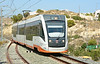 Tram 4156 arrives at Venta Lunaza, heading for Luceros Alicante 22/06/2014.