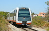 Dmu 2510 is seen on the approach to Calpe station heading for Benidorm 23/06/2014.