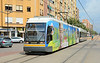 Valencia Tram 3823 on service 4 heading for Vicent Andres E 02/07/2014. This shot taken at Benimacelet.